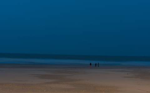 Blankenberge beach evening